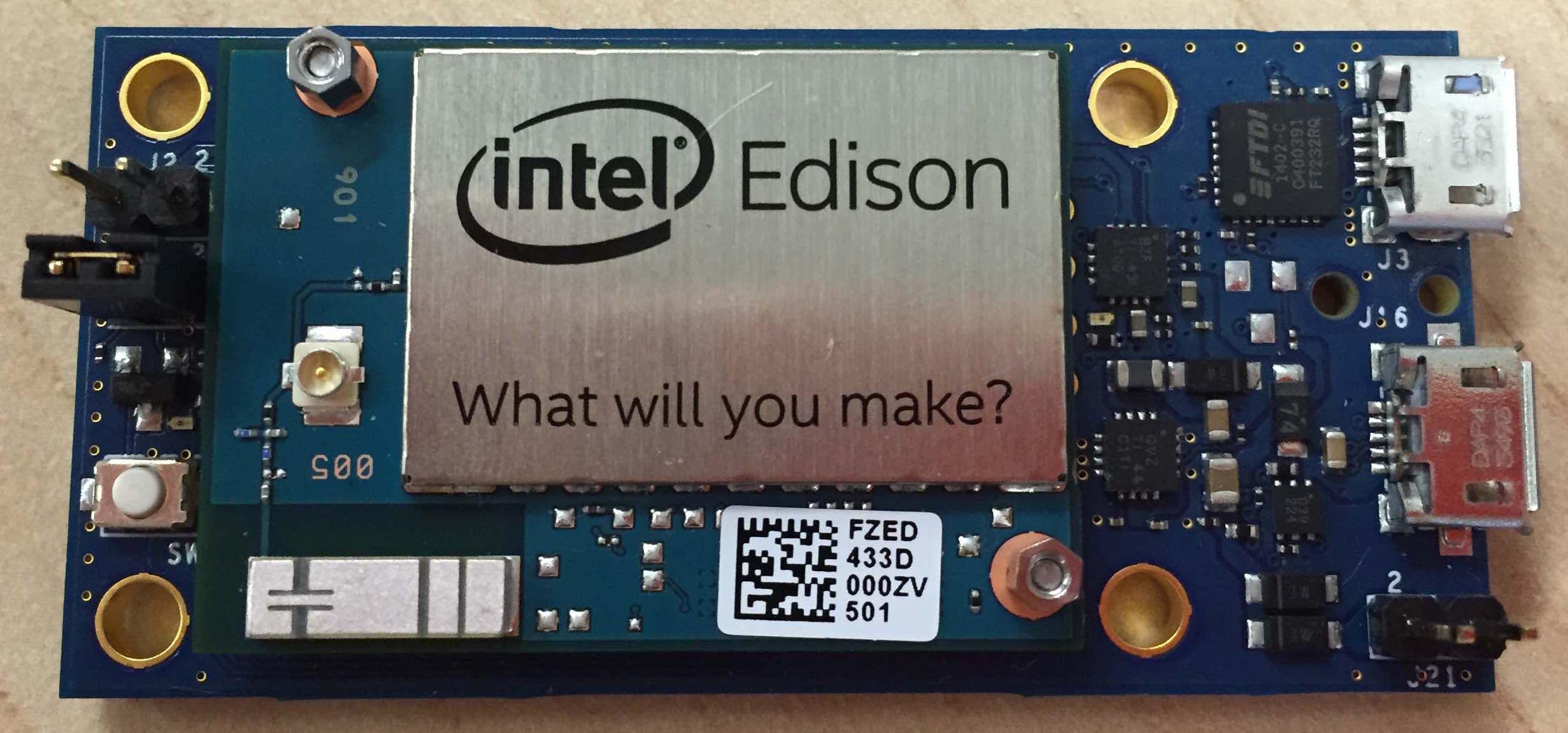 Edison on Mini breakout board