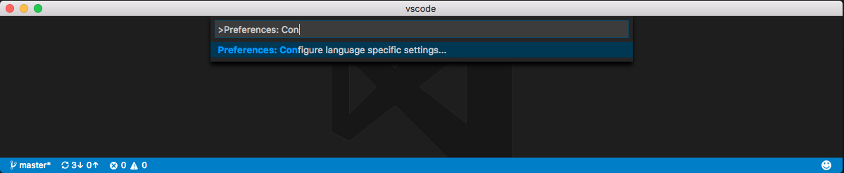 Configure language specific settings command