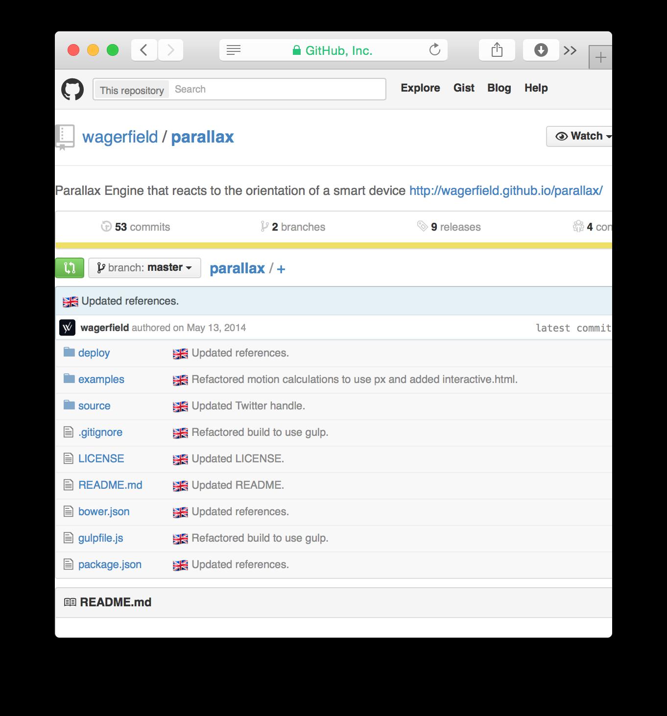 Github.com parallax repository