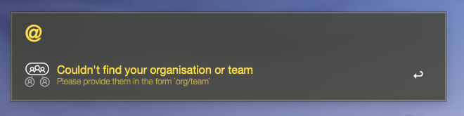 no org nor team